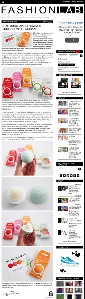 Belweder featured on Fashionlab | April 27, 2015