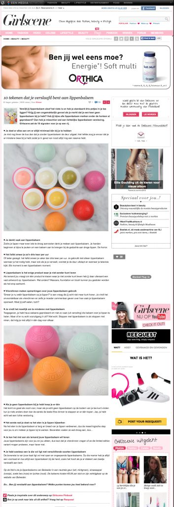 Belweder featured on GIrlscene.nl | August 28, 2015