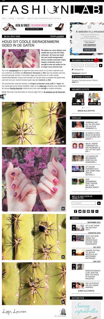 TAJ gekenmerkt op Fashionlab | augustus 2015